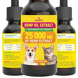 Hemp Oil Extract – Highly Effective – FDA-Recommended – Advanced Formula with Vitamins – for Cats & Dogs