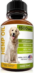 GOODGROWLIES Hemp Oil for Dogs Cats – 1500MG Pet Hemp Oil – USA Made Hemp Extract – Anxiety Relief for Dogs & Cats – Pain Relief – Hip & Joint Health Support