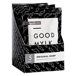 Goodmylk Co. – Ready to Drink Hemp Milk (10 Pack) – 8 oz Ready to Drink Packets – Organic, Non-GMO, Vegan, Low Glycemic, Sustainable, Keto, Dairy Free (Original)