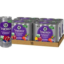V8 +Energy, Healthy Energy Drink, Natural Energy from Tea, Pomegranate Blueberry, 8 Fl Oz Can (6 Count (Pack of 4), Total of 24)