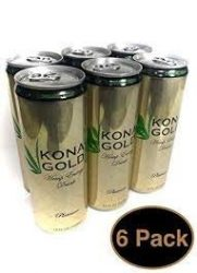Kona Gold Hemp Energy Drink, Platinum, 12 FL OZ, (Pack of 6)