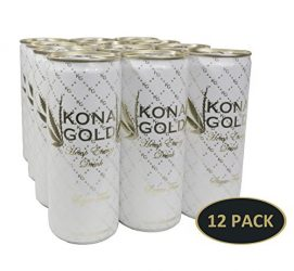 Kona Gold Hemp Infused Sugar Free Energy Drink 12.0 Fluid Ounces, 12 Pack