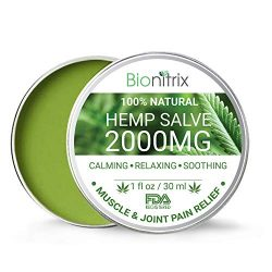 Bionitrix Hemp Oil Salve – 2000MG – Natural Hemp Extract for Arthritis, Muscle, Joint, Back & Knee Pain – Fast Recovery and Relief – Treatment for Muscle Soreness & Inflammation
