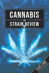Cannabis Marijuana Weed Strain Review Log Book Journal Notebook – Blue Future Leaf: Ganja Pot Hashish THC CBD Test Rating Record with 110 Pages in 6″ x 9″ Inch